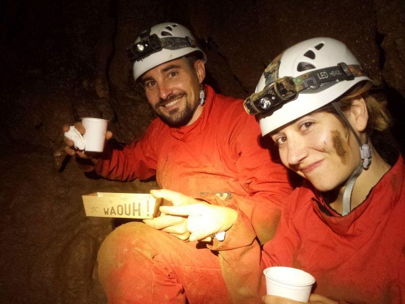 Apéro spéléo - Spéléologie en Ardèche - Grotte de Remène