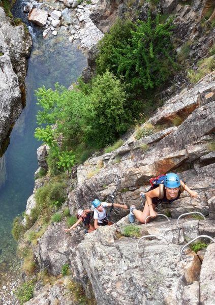 Via ferrata en Ardèche - Pont du Diable
